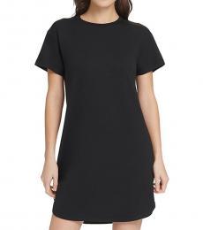 DKNY Black Mesh-Back T-Shirt Dress
