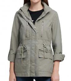 DKNY Sage Drawcord Waist Cargo Jacket