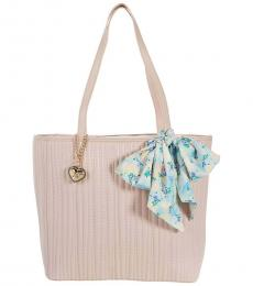 Betsey Johnson Blush Quilted Large Tote