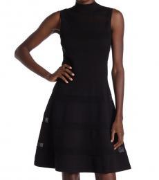 Kate Spade Black Mesh Panel Sweater Dress