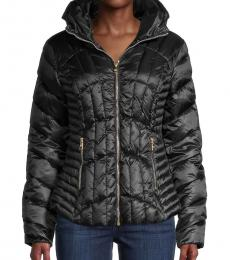 Black Quilted Puffer Jacket