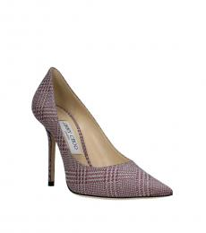Jimmy Choo Violet Glitter Heels