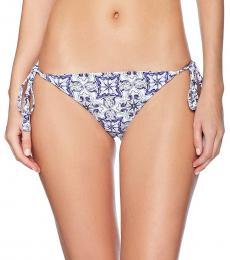 Rachel Roy Blue Tile Hipster String Beachwear Bottom