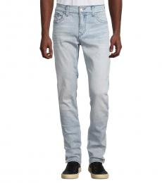 True Religion Light Blue Rocco Relaxed-Fit Skinny Jeans