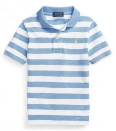 Ralph Lauren Little Boys Royal Heather Striped Polo