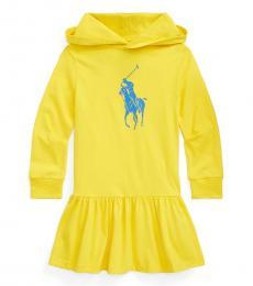 Ralph Lauren Little Girls Yellow Big Pony T-shirt Dress