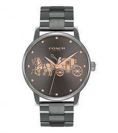 Coach Metallic Carriage Logo Watch