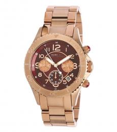 Marc Jacobs Rose Gold Red Dial Watch