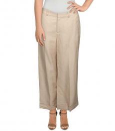 Tan Larabeth Flare Wide Leg Pants