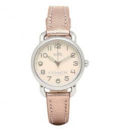 Coach Light Pink Metallic Watch