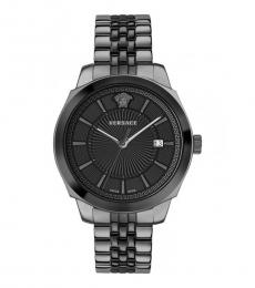 Versace Black Grey Logo Watch