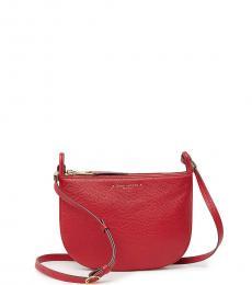 Red Supple Medium Crossbody Bag