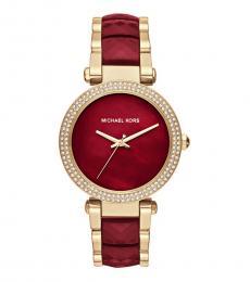 Michael Kors Cherry Gold Parker Watch