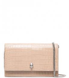 Alexander McQueen Light Pink Skull Small Shoulder Bag