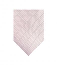 DKNY Light Pink Open Block Diamond Tie