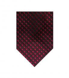 Tom Ford Dark Pink Geometric Pattern Tie