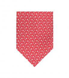 Salvatore Ferragamo Red Lamps Print Tie