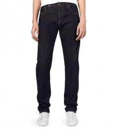 Navy Blue Slim-Straight Fit Jeans