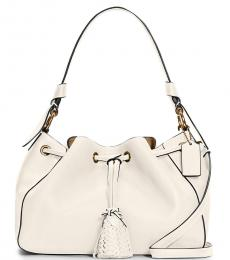 Coach White Everly Small Bucket Bag