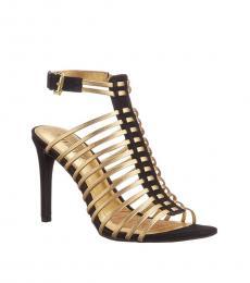 Gold Black Skyla Cage Heels