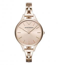 Emporio Armani Rose Gold Logo Watch