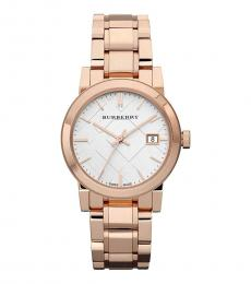 Burberry Rose Gold Heritage Logo Watch
