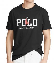 Ralph Lauren Black Classic Fit Graphic T-Shirt