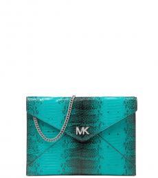 Michael Kors Tile Blue Envelope Medium Shoulder Bag
