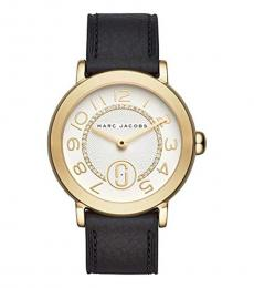 Marc Jacobs Black-Gold Riley Radiant Watch