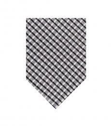 DKNY Black-White City Check Tie