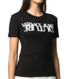 Versace Jeans Black Logo Print T-Shirt