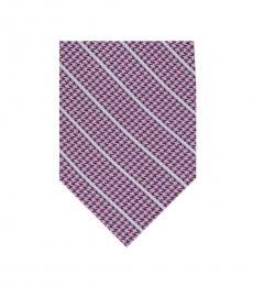 DKNY Light Purple-White Pillar Stripe Tie