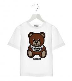Moschino Girls White Teddy Patch T-Shirt