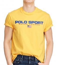 Ralph Lauren Chrome Yellow Classic-Fit Polo Sport T-Shirt