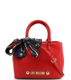 Love Moschino Red Scarf Medium Satchel