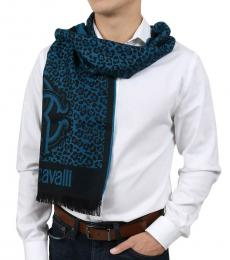 Turquoise Leopard Print Scarf