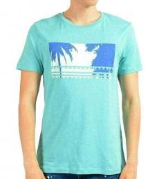 Turquoise Graphic Crewneck T-Shirt
