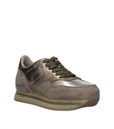 Hogan Beige Classic Logo Sneakers