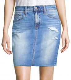 AG Adriano Goldschmied 16 Years Devulge Denim Skirt