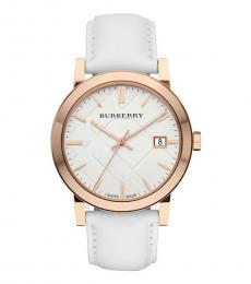 Burberry White Large Check Watch