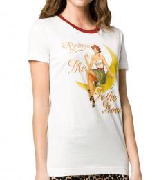 Dolce & Gabbana White Graphic Print Top