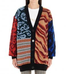Multicolor Patchwork Cardigan