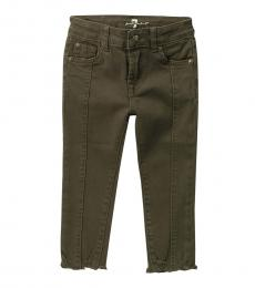 7 For All Mankind Little Girls Olive Ankle Skinny Pants
