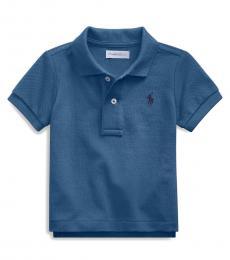 Ralph Lauren Baby Boys Federal Blue Mesh Polo
