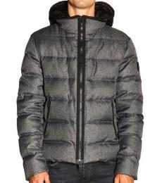 Fay Grey Nylon Down Jacket