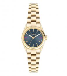 Gold Eva Blue Dial Watch