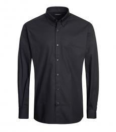 Black Solid Dress Shirt