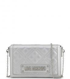 Love Moschino Silver Box Chain Small Crossbody