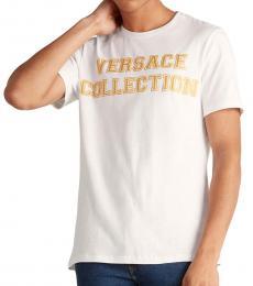Versace Collection White Collegiate Logo T-Shirt