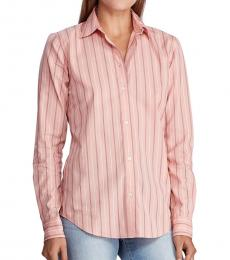 Ralph Lauren Pink Striped Cotton Shirt